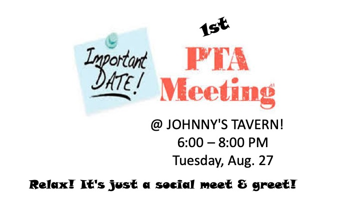 PTA Social (20% Goes to PTA) @ Johnny's Tavern