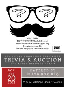 3rd Annual Brookridge Trivia & Auction Fundraiser @ Johnson County Arts & Heritage Center